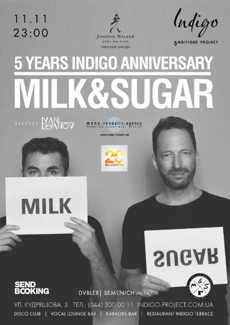 Milk & Sugar | 5 Years Indigo Anniversary